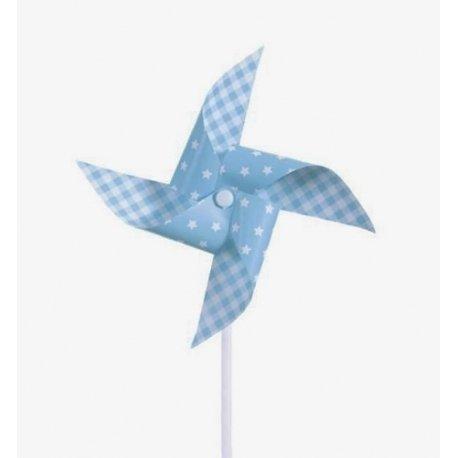 3 Molinillos de viento, azul claro