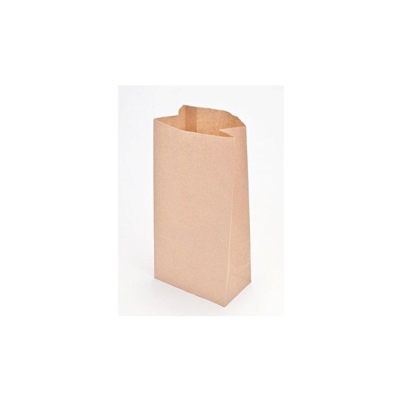 50 Bolsas de papel Kraft, tipo americano, 18X11X24cms