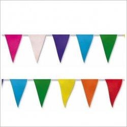 Guirnalda con 24 banderines de papel - 5 m