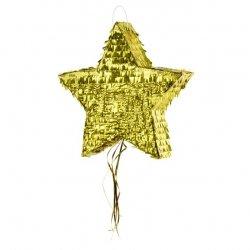 Piñata estrella dorada