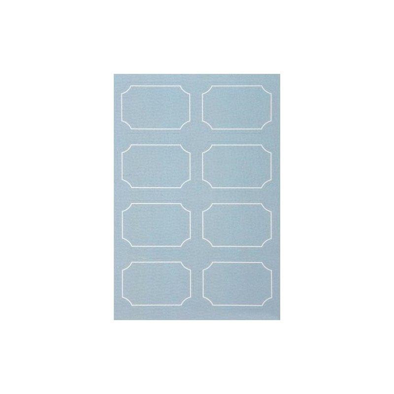 48 Etiquetas adhesivas, orla azul claro