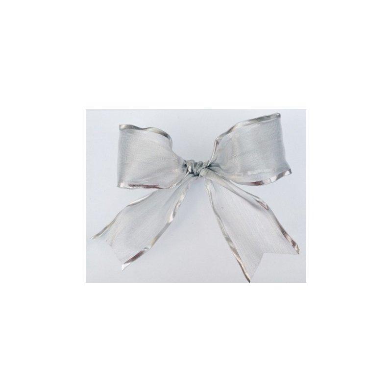 25 m de Cinta de regalo, plata 10 mm