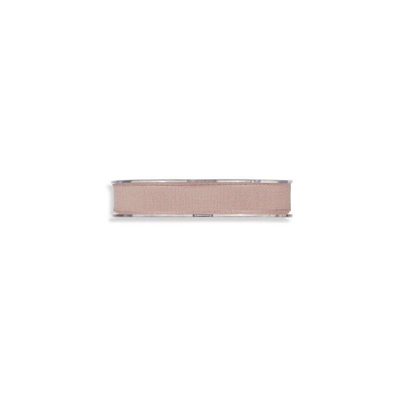 Cinta de regalo en algodón color rosa palo. 15 MM X 15 M