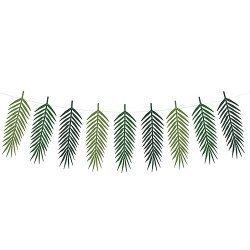Guirnalda de hojas tropicales-hojas de palmera