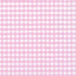 20 Servilletas de papel, cuadritos vichy rosa