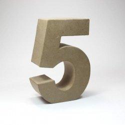 Números de cartón Kraft. Del 0 al 9