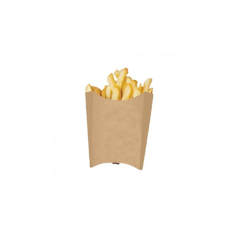 10 Cajas kraft para patatas fritas y chuches.