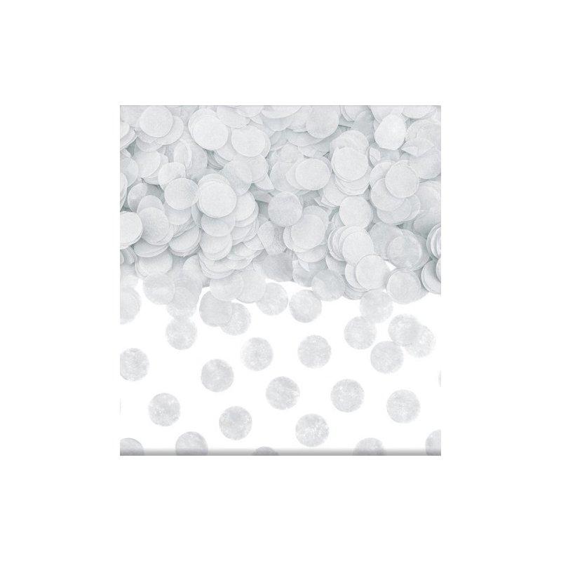 15 Grs de Confeti redondo, blanco