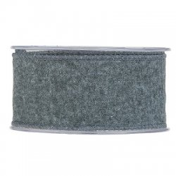 Cinta-lazo rústica gris. 63 mm x 10 m