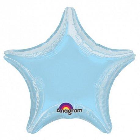 Globo metalizado Estrella azul claro. Aprox 11 cms