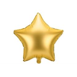 Globo metalizado estrella dorada. 48 cms
