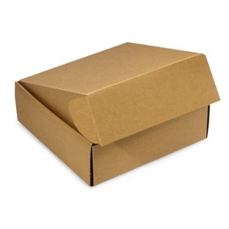 Caja de cartón, automontale, para envío postal. 37x25x9 cms