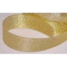 Cinta de regalo lurex oro 15 mm x 22.5 m