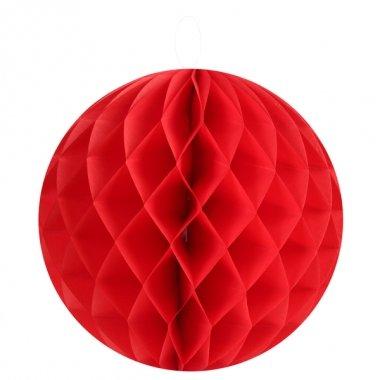 Bola nido de abeja, rojo, 25 cms