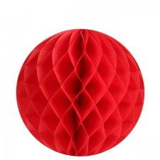Bola nido de abeja, rojo, 35 cms