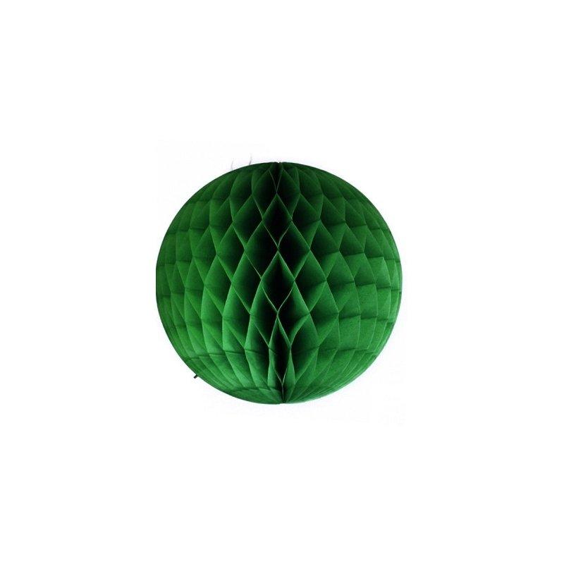 Bolas nido de abeja, verde inglés, 20 cms