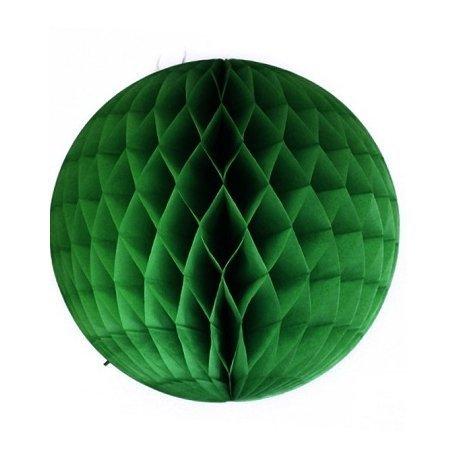Bola nido de abeja, verde inglés, 30 cms