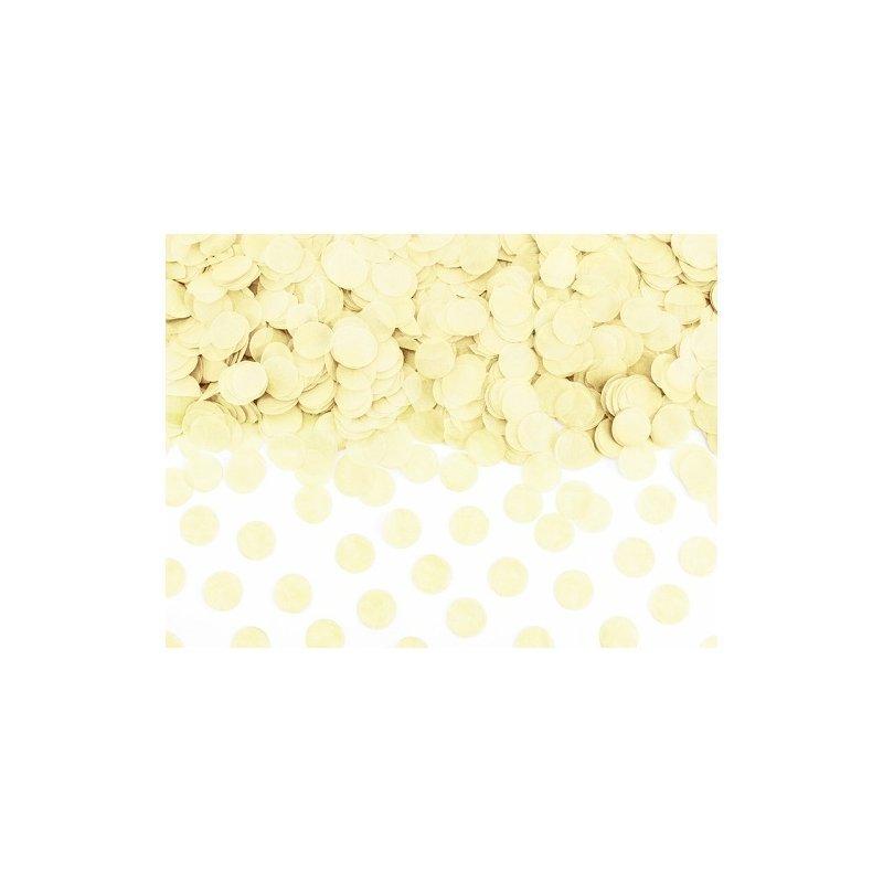 20 Grs de Confeti redondo, Beige-Marfil