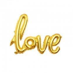 Globo palabra LOVE, dorado