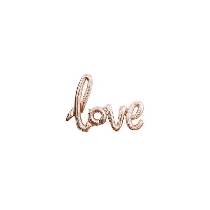 Globo palabra LOVE, cobre-oro rosa