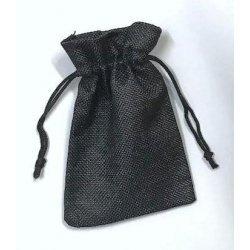 10 Sacos de tela rústica 9.5x13.5 cms. Negro