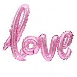 Globo palabra LOVE, Rosa metalizado