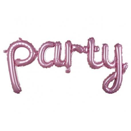 Globo palabra Party, rosa