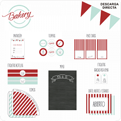 kit de Fiesta imprimible BAKERY PARTY - Sin personalizar