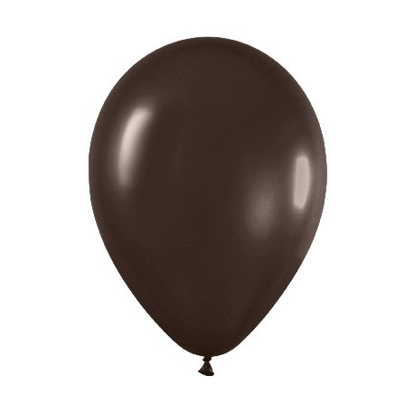 10 Globos 30 cms. Satin Marrón Chocolate