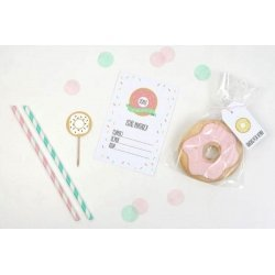 kit de Fiesta imprimible DONUT PARTY - Sin personalizar