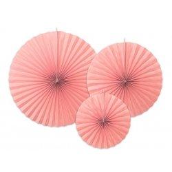 3 Abanicos de papel, rosa