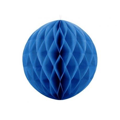 Bola nido de abeja, Azul. 20 cms