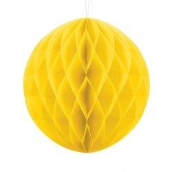 Bola nido de abeja, Amarilla. 30 cms