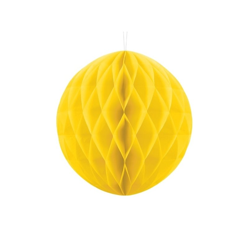 Bola nido de abeja, Amarilla. 20 cms