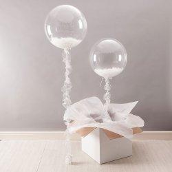 Globo burbuja transparente de 45 cms. Sin decoración
