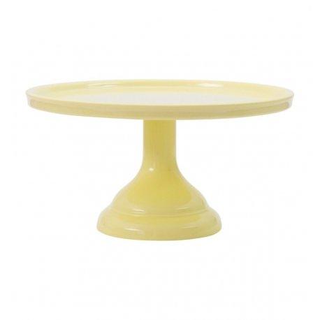 Cake Stand de melamina amarillo claro. Tartas y cupcakes.