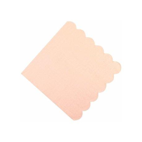 20 Servilletas de papel rosa asalmonado, con festón