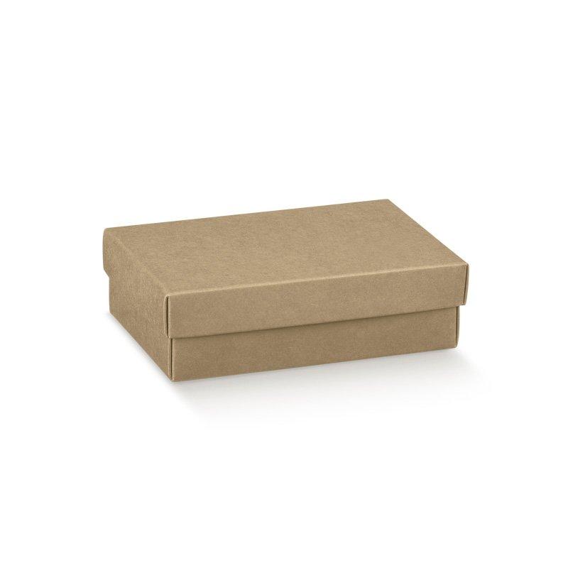 5 Cajas kraft, fondo + tapa. 9.5x6.5x4 cms