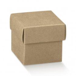 5 Cajas kraft, fondo + tapa. 5x5x5 cms