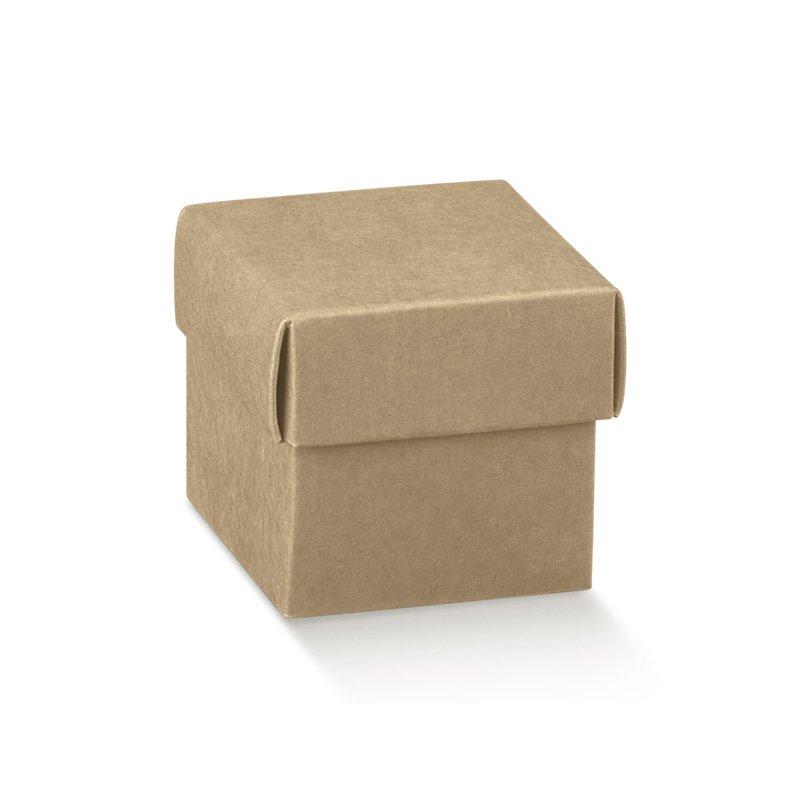 5 Cajas kraft, fondo + tapa. 5x5x5 cms Agotado temporalmente