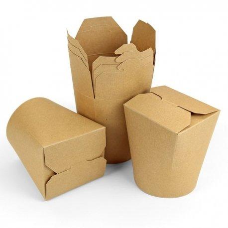 10 Cajas kraft, modelo comida china.