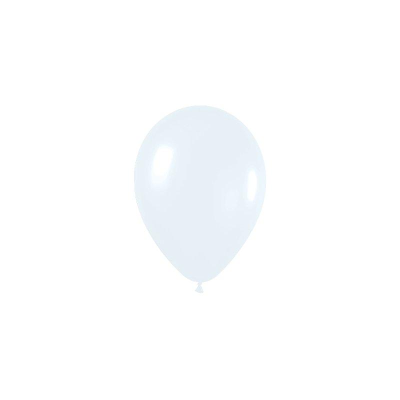 10 Globos Blanco sólido. 30 cms.
