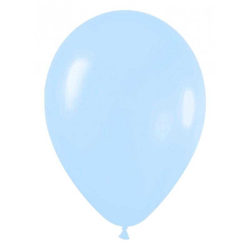 10 Globos 30 cms. Azul claro.