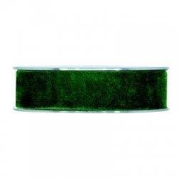 Cinta de terciopelo verde oscuro 25mmx7m