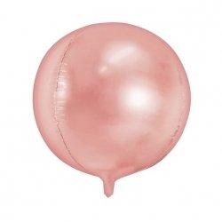 Globo metalizado esfera oro rosa.