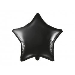 Globo metalizado estrella negra. 48 cms