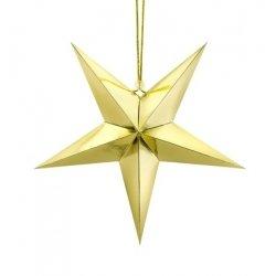 Estrella de papel oro. 70 cms.