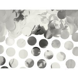 15 Grs de Confeti metalizado plata