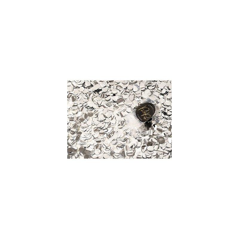 Cañón-Push pop con Confeti metalizado Plata