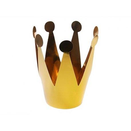 3 Coronas dorado metalizado